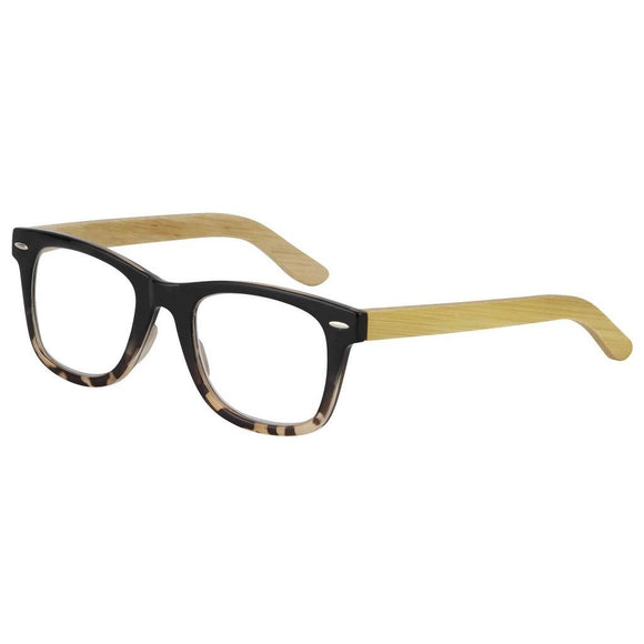 Eye Candy Berkeley Reader Tortoise Frame Natural Bamboo Temples