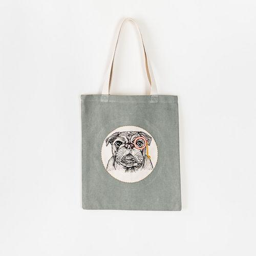 Bulldog Bag, Fabric, 14