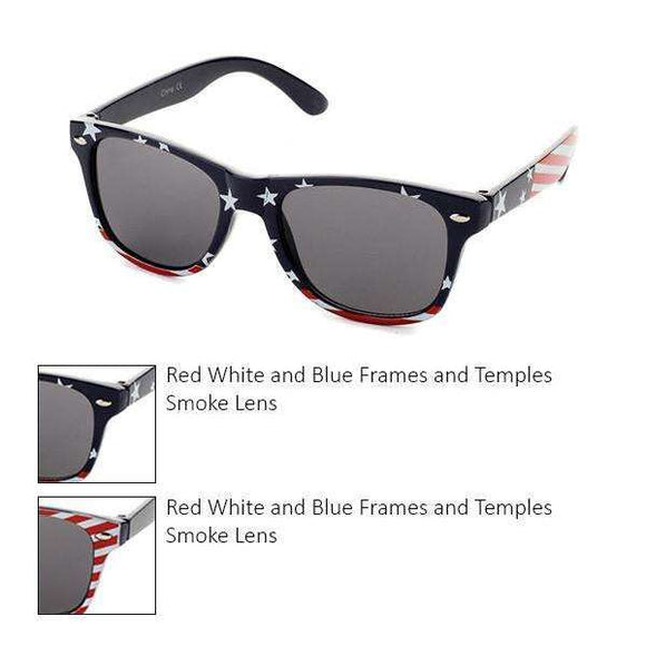 Kids Stars and Stripes Smoke Lens Sunglasses in 2 Styles