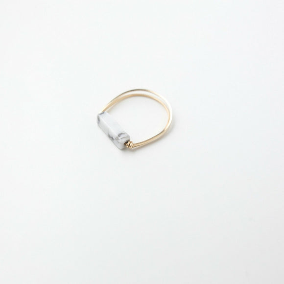 Sarah Briggs Marble Single Stone Stacking 14kgf Ring