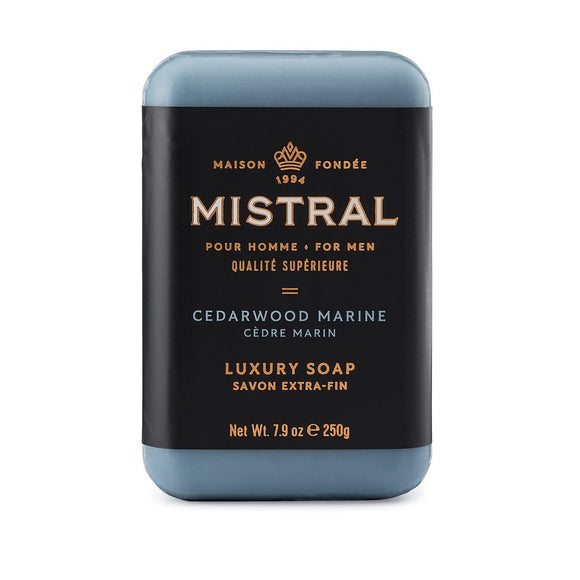 Mistral Cedarwood Marine Men's Bar Soap 250g
