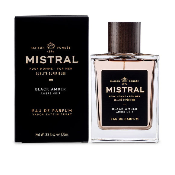 Mistral Black Amber Cologne 3.3 fl oz / 100 ml