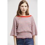 Free People Ebony Tee 3/4 Sleeve Red