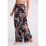 Free People Late Night Sleep Pant Black Combo