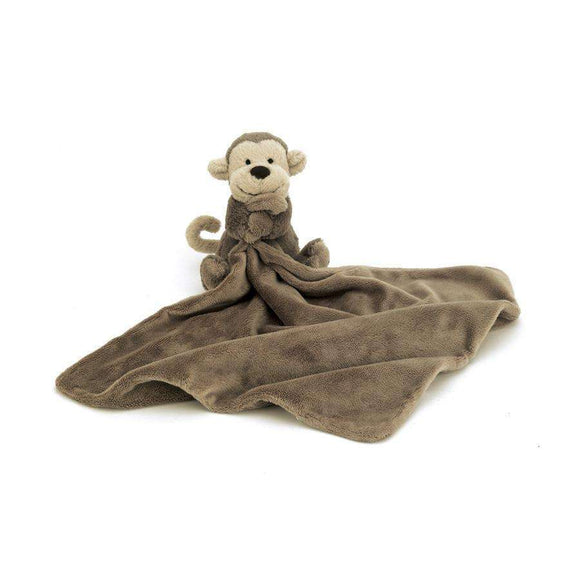 Jellycat Bashful Monkey Soother Brown