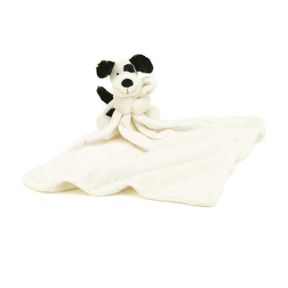 Jellycat Bashful Puppy Black & Cream Soother