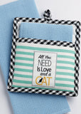 Design Imports Cat Potholder Tea Towel Gift Set