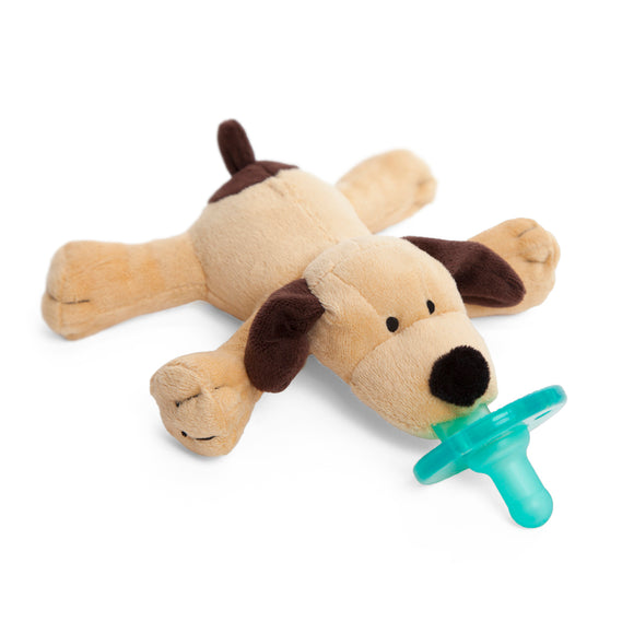 WubbaNub Brown Puppy Pacifier in Gift Box
