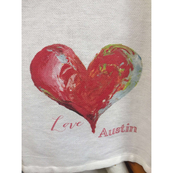 Love Austin with Heart Teatowel 20