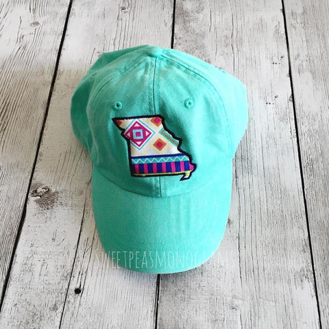 Aztec State Baseball Cap, Personalized Hat