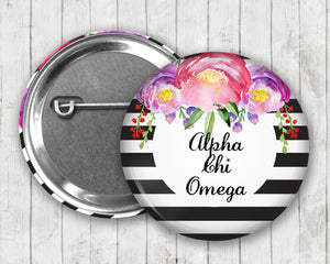 Alpha Chi Omega Pin Back Button