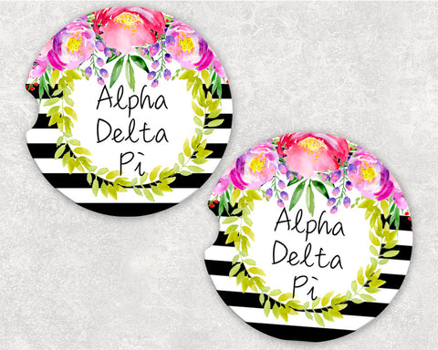 Alpha Delta Pi Car Coasters
