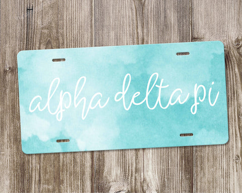 Alpha Delta Pi License Plate