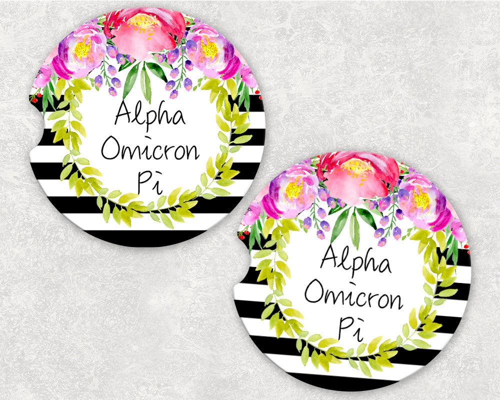 Alpha Omicron Pi Car Coasters