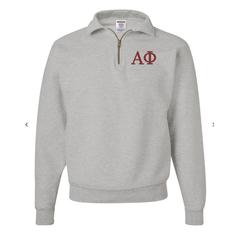 Alpha Phi Fleece Quarter Zip Pullover
