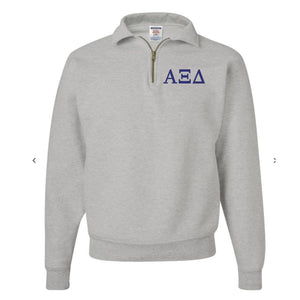 Alpha Xi Delta Fleece Quarter Zip Pullover