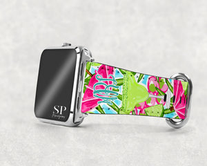 Monogram Apple Watch Band - Margarita