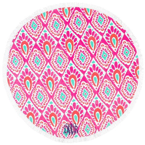 Monogram Circle Beach Towel