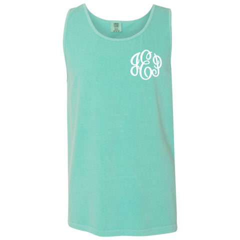 Monogram Comfort Color Tank in mint