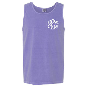 Monogram Comfort Color Tank in violet