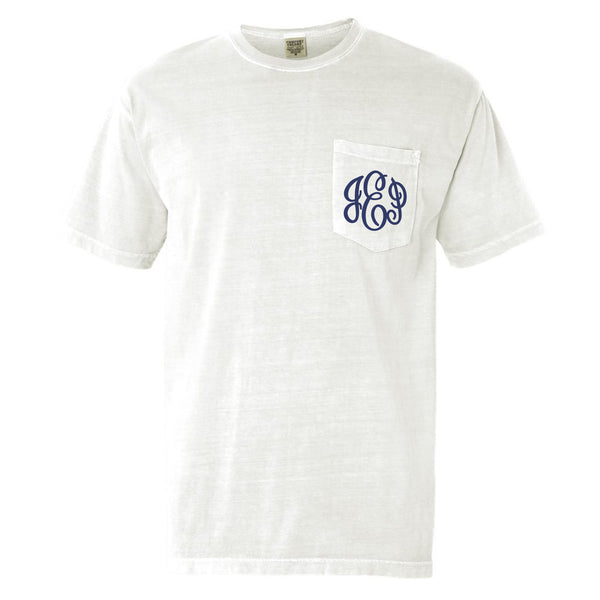 Monogram Comfort Color Short Sleeve Tee in White