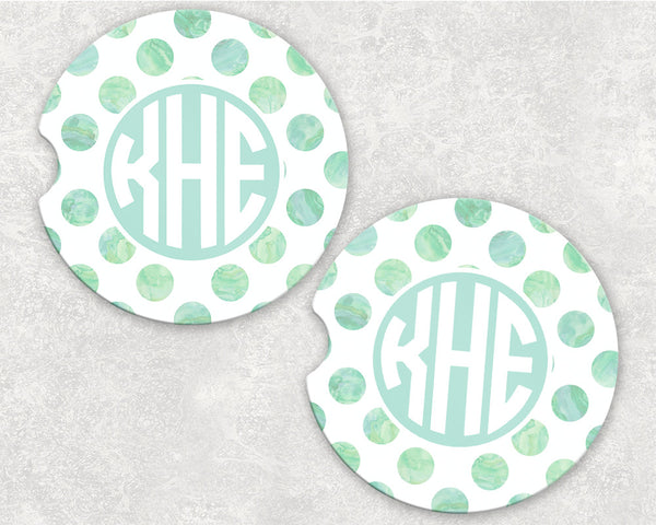 Monogram Car Coasters