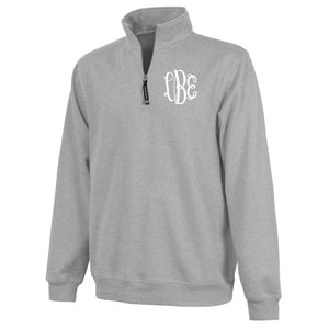 Monogram Crosswind Quarterzip in Oxford
