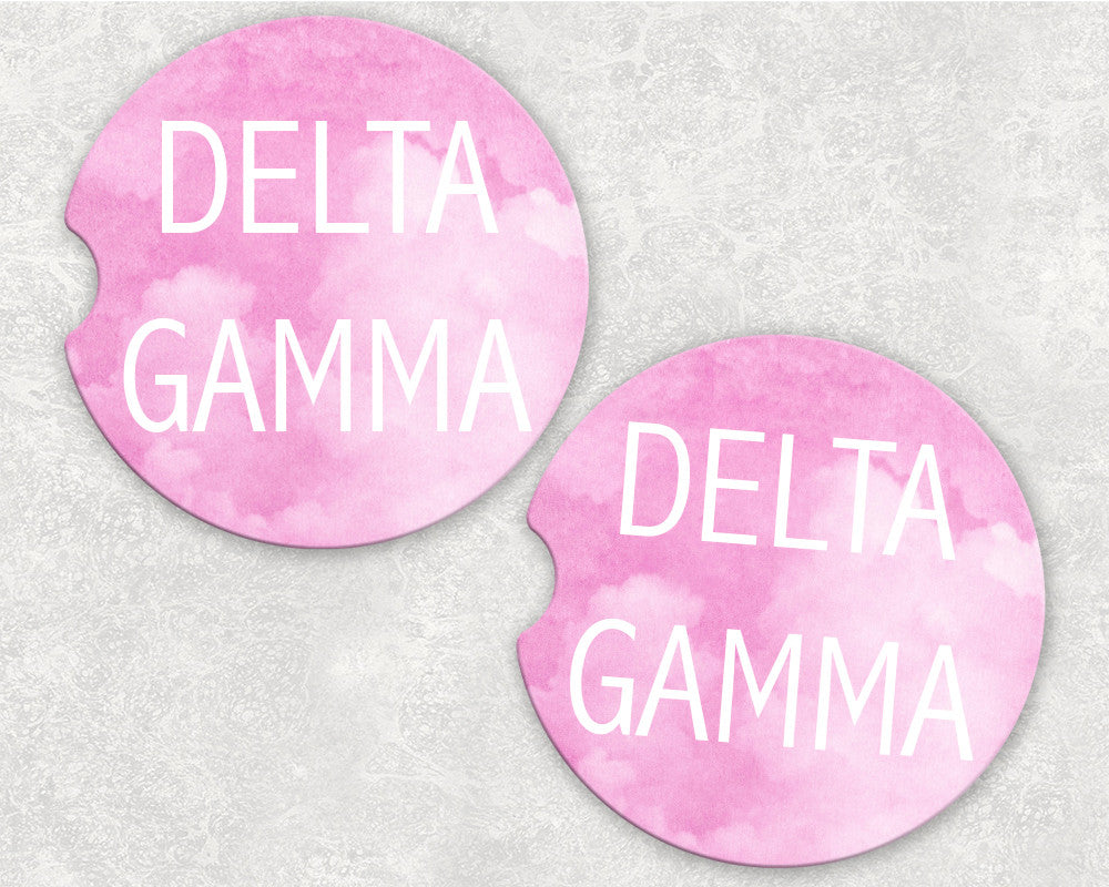Delta Gamma Car Coasters