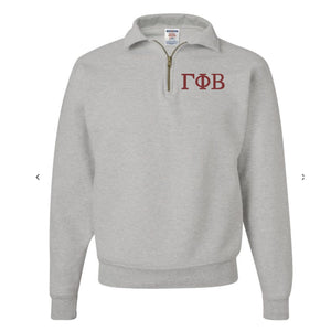 Gamma Phi Beta Fleece Quarter Zip Pullover