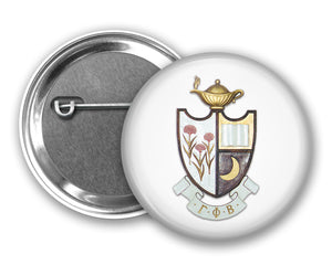 Gamma Phi Beta Pin Back Button