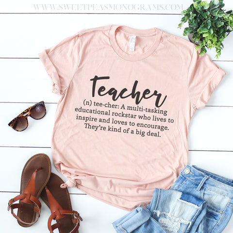 Teacher Definition Graphic Tee
