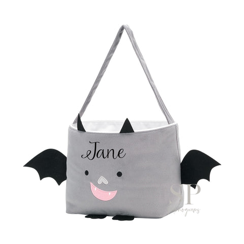 Plush Bat Halloween Tote Bag