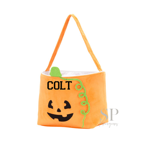 Plush Pumpkin Halloween Tote Bag
