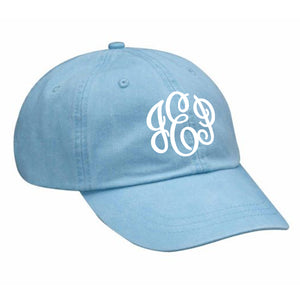 Monogram Baseball Hat in Baby Blue