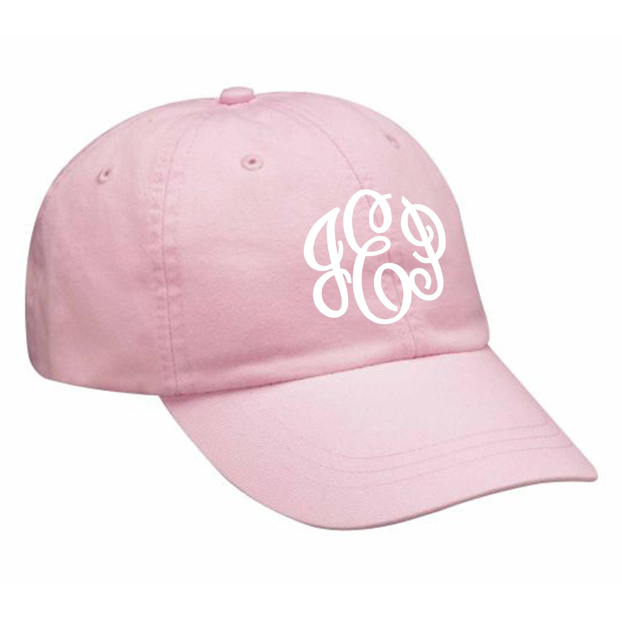 Monogram Baseball Hat in Baby Pink