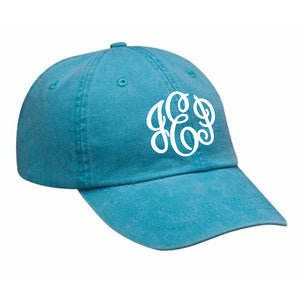 Monogram Baseball Hat in Caribbean