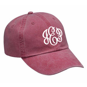 Monogram Baseball Hat in Nautical Red
