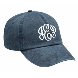 Monogram Baseball Hat in Navy