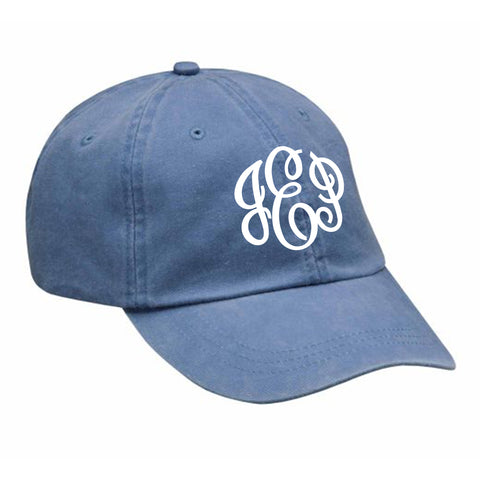 Monogram Baseball Hat in Periwinkle