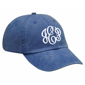 Monogram Baseball Hat in Royal Blue