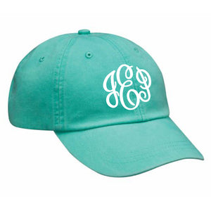 Monogram Baseball Hat in Seafoam