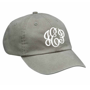 Monogram Baseball Hat in Stone