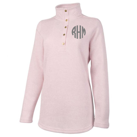 Monogram Hingham Tunic in Light Pink