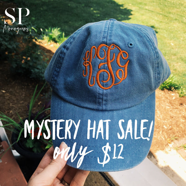 Mystery Embroidered Monogram Hat