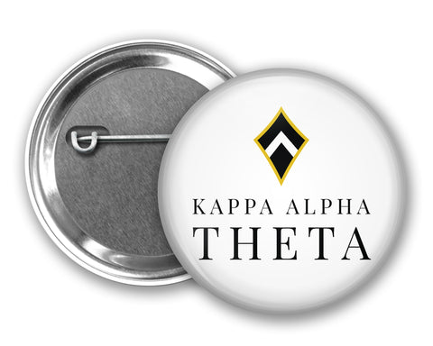 Kappa Alpha Theta Pin Back Button