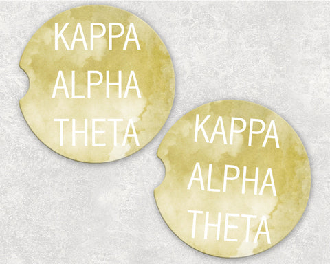 Kappa Alpha Theta Car Coasters