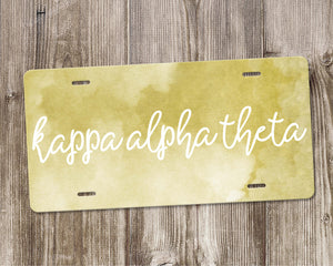 Kappa Alpha Theta License Plate