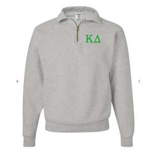 Kappa Delta Fleece Quarter Zip Pullover