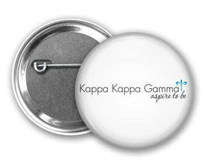 Kappa Kappa Gamma Pin Back Button