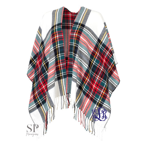 Monogram Kennedy Shawl - Classic Plaid